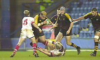 London. Great Britain, Wasps Trevor LEOTA, running witht he ball, during the Heineken Cup, London Wasps v Ulster Match, played at Loftus Road, West London. 06/01/2002.  [Mandatory Credit;  Peter Spurrier/Intersport Images]..