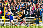 Gavin O'Shea Dr Crokes in action against /j3/ Kenmare District in the Senior County Football Championship final at Fitzgerald Stadium on Sunday.