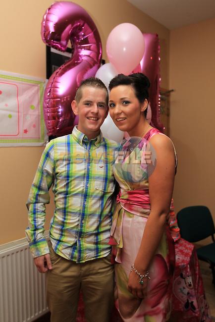 Kiera Tiernan celebrating her 21TH. with boyfriend Damien Boyle..Picture Fran Caffrey www.newsfile.ie..