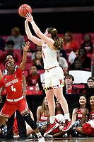 College Park, MD - March 23, 2019: Maryland Terrapins guard Taylor Mikesell (11) connects on a three point basket during first round action of game between Radford and Maryland at Xfinity Center in College Park, MD. Maryland defeated Radford 73-51. (Photo by Phil Peters/Media Images International)