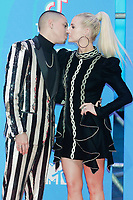 BILBAO, SPAIN-November 04: Evan Ross, Ashlee Simpson attend the EMA 2018 at BEC (Bilbao Exhibition Center) in Bilbao, Spain on the 4 of November of 2018. November04, 2018.  ***NO SPAIN*** <br /> CAP/MPI/RJO<br /> &copy;RJO/MPI/Capital Pictures