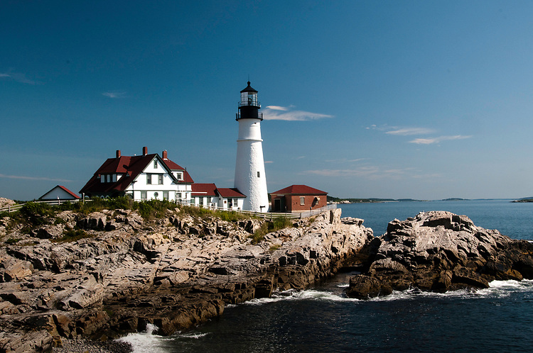 August 6, 2009 / Main Sea Coast including Portland Head Light and Cape Elizabeth Light.  Cape Elizabeth light is part of Two Lights.