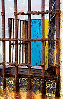 Port Orford Jail, now abandoned, was probably not pleasant.  There is no sign.  One block up from waterfront off main residential road.