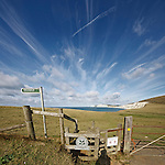Crazy skies on a beautiful day at Compton Bay, Isle of Wight
