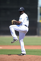 Seattle Mariners pitcher Ramire Cleto (24) during an Instructional League game against the Milwaukee Brewers on October 4, 2014 at Peoria Stadium Training Complex in Peoria, Arizona.  (Mike Janes/Four Seam Images)