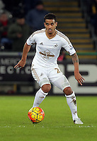 Kyle Naughton of Swansea during the Barclays Premier League match between Swansea City and Watford at the Liberty Stadium, Swansea on January 18 2016