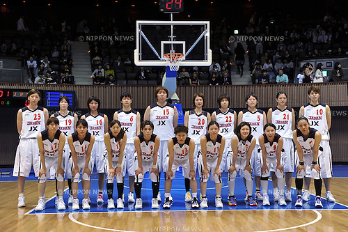 Japan National Women's Basketball Team Group,.MAY 22, 2012 - Basketball : Basketball Japan National Women's representative international friendly match 2012/FIBA World Olympic Qualifying Tournament for Women send-off match between Japan 66-64 Slovak at 2nd Yoyogi Gymnasium, Tokyo, Japan. (Photo by Jun Tsukida/AFLO SPORT) [0003].