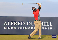 Filipe Aguilar (CHI) on the 8th tee during Round 3 of the 2015 Alfred Dunhill Links Championship at Kingsbarns in Scotland on 3/10/15.<br /> Picture: Thos Caffrey | Golffile