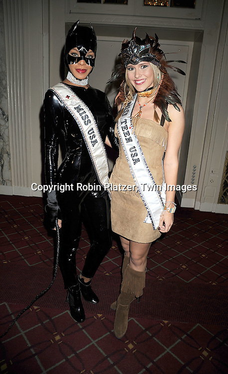Miss USA Crystle Stewart and Miss Teen USA Stevi Perry ..at Bette Midler's New York Restoration Project's 13th Annual Hulaween Gala on October 31, 2008 at The Waldorf Astoria in New York City. ....Robin Platzer, Twin Images