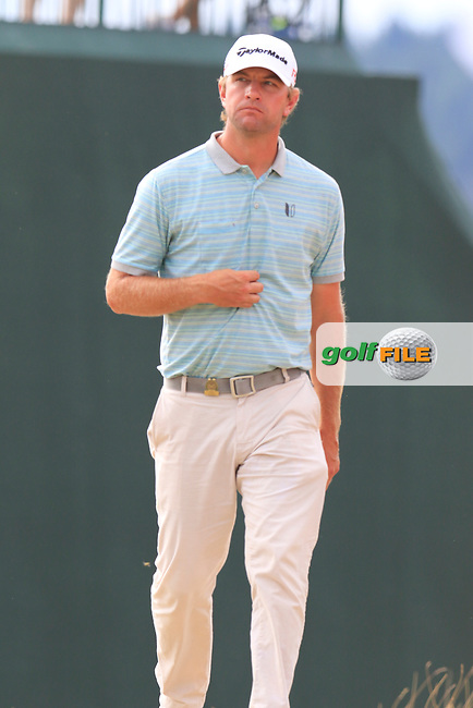 Lucas Glover (USA) on the 4th tee during Thursday's Round 1 of the 2015 U.S. Open 115th National Championship held at Chambers Bay, Seattle, Washington, USA. 6/19/2015.<br /> Picture: Golffile | Eoin Clarke<br /> <br /> <br /> <br /> <br /> All photo usage must carry mandatory copyright credit (&copy; Golffile | Eoin Clarke)