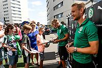GRONINGEN - Voetbal, Opendag FC Groningen, seizoen 2018-2019, 05-08-2018, FC Groningen speler Mike te Wierik en FC Groningen speler Tom van Weert
