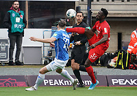 Silvere Ganvoula Mboussy (VfL Bochum) gegen Yannick Stark (SV Darmstadt 98) - 07.03.2020: SV Darmstadt 98 vs. VfL Bochum, Stadion am Boellenfalltor, 2. Bundesliga<br /> <br /> DISCLAIMER: <br /> DFL regulations prohibit any use of photographs as image sequences and/or quasi-video.