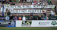 Seattle, WA - Saturday July 16, 2016: Fans during a regular season National Women's Soccer League (NWSL) match between the Seattle Reign FC and the Western New York Flash at Memorial Stadium.