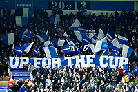 4th January 2020; King Power Stadium, Leicester, Midlands, England; English FA Cup Football, Leicester City versus Wigan Athletic; Leicester City supporters' flags fly before kick-off - Strictly Editorial Use Only. No use with unauthorized audio, video, data, fixture lists, club/league logos or 'live' services. Online in-match use limited to 120 images, no video emulation. No use in betting, games or single club/league/player publications