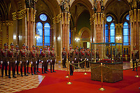 New members of the Guard of the Crown take an oath in the Hungarian Parliament in Budapest, Hungary on September 20, 2011. ATTILA VOLGYI