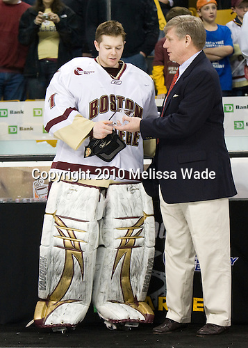 John Muse (BC - 1) was named to the All-Tournament team. - The Boston College Eagles defeated the University of Maine Black Bears 7-6 in overtime to win the Hockey East championship on Saturday, March 20, 2010, at TD Garden in Boston, Massachusetts.