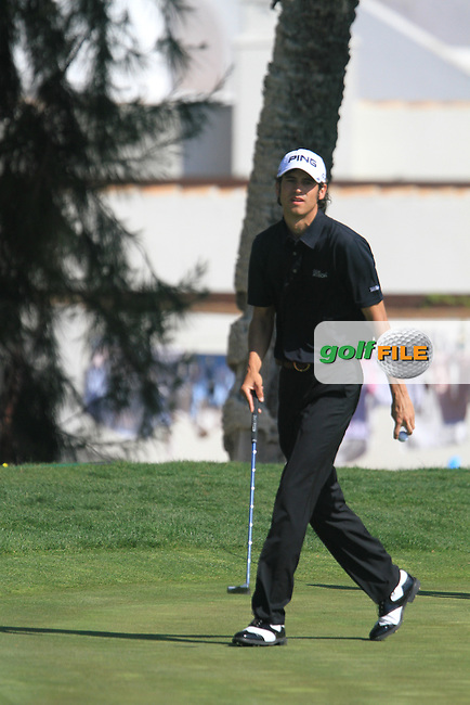 Pedro Oriol (ESP) on the 3rd green on Day 3 of the 2012 Open de Andalucia Costa del Sol at Aloha Golf Club, Marbella, Spain....(Photo Jenny Matthews/www.golffile.ie)