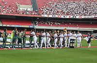 SAO PAULO, SP, 10 MARÇO 2013 - CAMP. PAULISTA - SAO PAULO X PALMEIRAS - Equipes de Sao Paulo x Palmeiras em partida valida pelo Campeonato Paulista no Estadio Cicero Pompeu de Toledo o Morumbi neste domingo, 10. FOTO: WILLIAM VOLCOV / BRAZIL PHOTO PRESS) .
