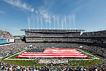 An American Flag is displayed before the NFL game between the New Orleans Saints and the Philadelphia Eagles on September 20th 2009. The Saints won 48-22 at Lincoln Financial Field in Philadelphia, Pennsylvania. (Photo by Brian Garfinkel)