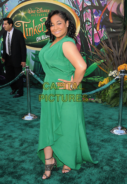 "RAVEN SYMONE .at Disney's ""Tinker Bell"" DVD & Blu-ray Disc Premiere held at The El Capitan Theatre in Hollywood, California, USA, October 19th 2008.                                                                     .full length long dress hand on hip green gold glittery shoes sandals .CAP/DVS.©Debbie VanStory/Capital Pictures"