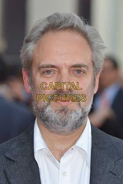 Sam Mendes<br /> 'Charlie And The Chocolate Factory' press night, Theatre Royal, Drury Lane, London, England.<br /> 25th June 2013<br /> headshot portrait white shirt grey gray beard facial hair <br /> CAP/PL<br /> &copy;Phil Loftus/Capital Pictures