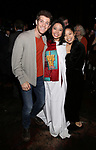 "Alistair Brammer, Catherine Ricafort and Eva Noblezada during The Opening Night Actors' Equity Gypsy Robe Ceremony honoring Catherine Ricafort for the New Broadway Production of  ""Miss Saigon""  at the Broadway Theatre on March 23, 2017 in New York City"