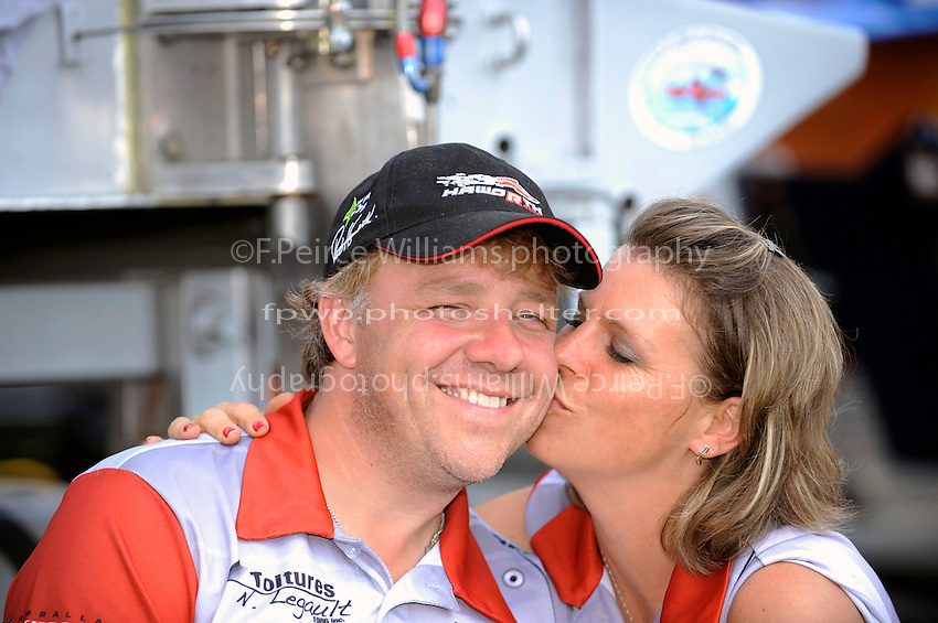 "Driver Patrick Haworth, GP-57 ""H2Racing"" and girlfriend Judith Sauvé."