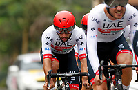 MEDELLIN,  COLOMBIA - February 12. Colombian cyclist Fernando Gaviria Members of Team UAE Emirates compete to win the team time trial of the Tour Colombia 2.1, in Medellin, Colombia, on February 12, 2019. The Tour Colombia 2.1 cycling race takes place between February 12 and 17. Viewpress / Fredy Builes