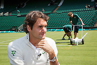 20-06-12, England, London, Wimbledon, Tennis, Federer