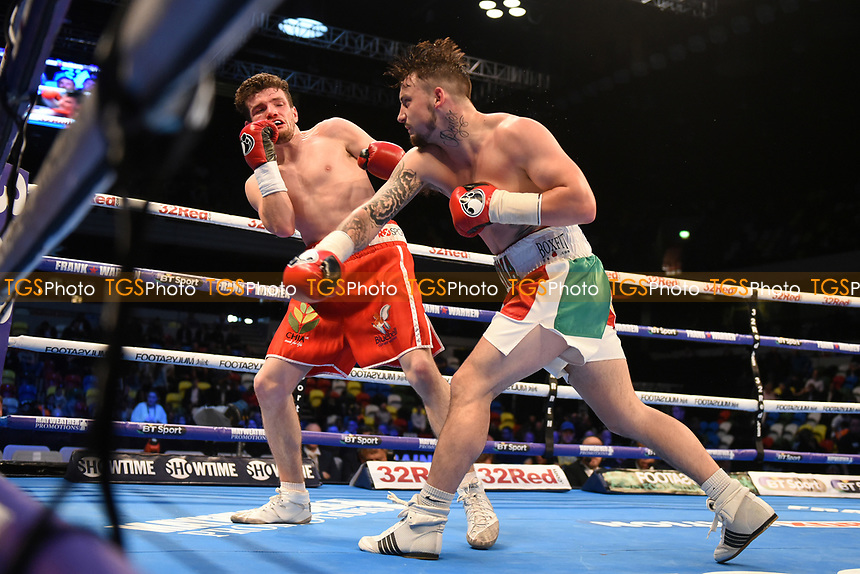 Mitchell Smith defeats Lee Connelly during a Boxing Show at the Copper Box Arena on 20th May 2017