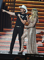 08 November 2017 - Nashville, Tennessee - Carrie Underwood, Brad Paisley. 51st Annual CMA Awards, Country Music's Biggest Night, held at Bridgestone Arena.  <br /> CAP/ADM/LF<br /> &copy;LF/ADM/Capital Pictures