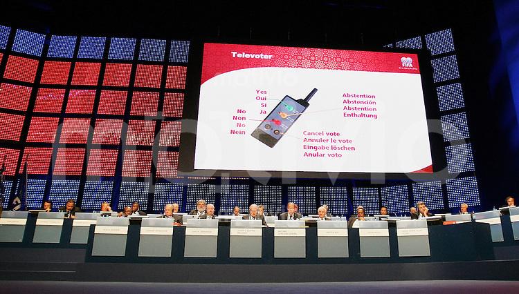 Fussball International 55. FIFA Kongress Elektronisches Voting, Abstimmung