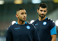 Faouzi Ghoulam Raul Albiol  during the Champions League Group  soccer match between SSC Napoli - Manchester City   at the Stadio San Paolo in Naples 01 nov 2017
