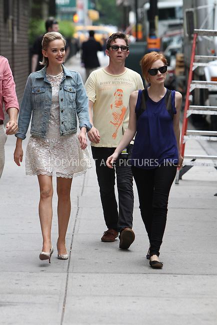 WWW.ACEPIXS.COM....July 23 2012, New York City....Jess Weixler (L) and Jessica Chastain on the set of the new movie 'The Disappearance of Eleanor Rigby' film set on July 23, 2012 in New York City....By Line: Zelig Shaul/ACE Pictures......ACE Pictures, Inc...tel: 646 769 0430..Email: info@acepixs.com..www.acepixs.com