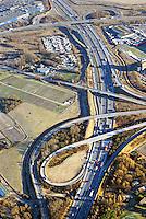 Verkehrsknote BAB A1 und BAB A25: EUROPA, DEUTSCHLAND, HAMBURG, (EUROPE, GERMANY), 06.01.2016: Verkehrsknote BAB A1 und BAB A25