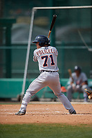 Detroit Tigers Brady Policelli (71) bats during a minor league Spring Training game against the Atlanta Braves on March 25, 2017 at the ESPN Wide World of Sports Complex in Orlando, Florida.  (Mike Janes/Four Seam Images)
