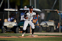 Sanson Faltine III during the WWBA World Championship at the Roger Dean Complex on October 19, 2018 in Jupiter, Florida.  Sanson Faltine III is a shortstop from Richmond, Texas who attends William B Travis High School and is committed to Texas.  (Mike Janes/Four Seam Images)