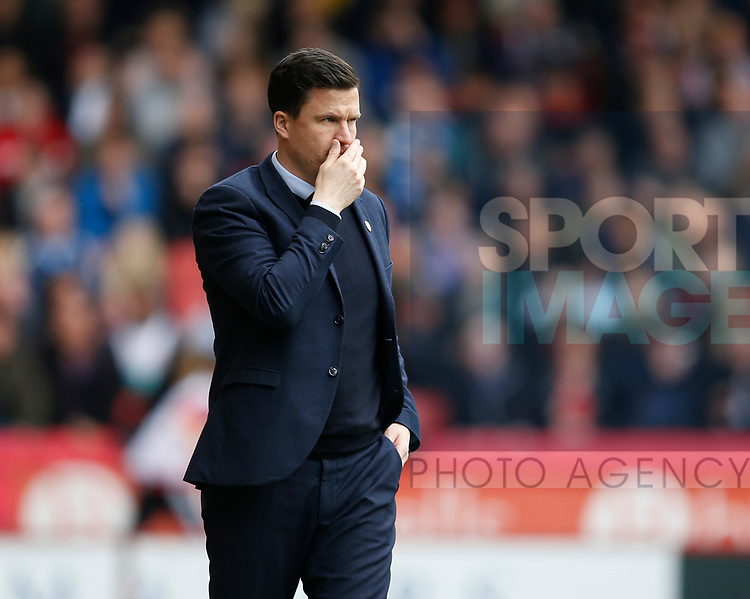 Chris Caldwell Chesterfield manager during the English League One match at  Bramall Lane Stadium, Sheffield. Picture date: April 30th 2017. Pic credit should read: Simon Bellis/Sportimage