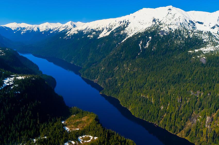 Aerial view, Misty Fjords National Monument, near Ketchikan, southeast Alaska, USA
