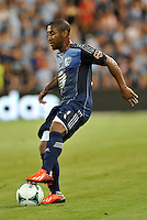 Sporting Park, Kansas City, Kansas, July 31 2013:<br /> Corey Ashe (26) defender MLS All-Stars in action.<br /> MLS All-Stars were defeated 3-1 by AS Roma at Sporting Park, Kansas City, KS in the 2013 AT & T All-Star game.