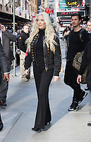 NEW YORK, NY April .18, 2017 Erika Jayne at Good Morning America  to talk about being latest one to be eliminated  from  Dancing with Stars season 24  in New York April 18,  2017. <br /> CAP/MPI/RW<br /> &copy;RW/MPI/Capital Pictures