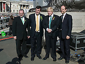 15 March 2009. London/United Kingdom. Irish celebrations in London with the traditional St Patrick's Day Parade. London Mayor Boris Johnson with the Irish Minister and Members of the Irish Tourist Board. (Photo: Bettina Strenske)
