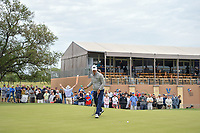 Billy Horschel (USA) barely misses his putt on 18 during Round 2 of the Valero Texas Open, AT&T Oaks Course, TPC San Antonio, San Antonio, Texas, USA. 4/20/2018.<br /> Picture: Golffile | Ken Murray<br /> <br /> <br /> All photo usage must carry mandatory copyright credit (© Golffile | Ken Murray)