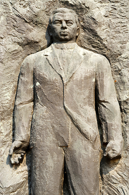 Kun Bela Memorial - founder of the Hungarian Soviet Repulic (1919 March 21st to August) - Memento Sculpture Park ( Szobaopark ) Budapest, Hungary