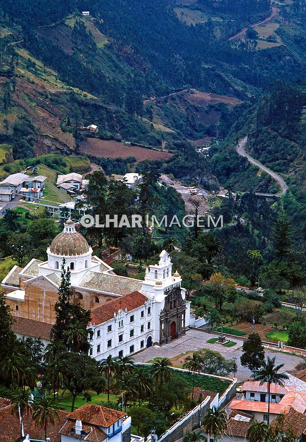 Igreja na cidade de Quito, Equador.<br /> Foto de Juca Martins.<br /> Data. 1987.
