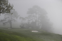 The fog rolls in during Wednesday's Pracitce Day of the 2018 AT&amp;T Pebble Beach Pro-Am, held over 3 courses Pebble Beach, Spyglass Hill and Monterey, California, USA. 7th February 2018.<br /> Picture: Eoin Clarke | Golffile<br /> <br /> <br /> All photos usage must carry mandatory copyright credit (&copy; Golffile | Eoin Clarke)