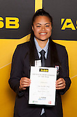 Girls Rugby Union winner Johana Su'a from One Tree Hill College. ASB College Sport Young Sportsperson of the Year Awards held at Eden Park, Auckland, on November 24th 2011.