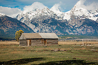 Mormon Row Historic District in Grand Teton National Park in Wyoming.