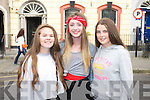 Alex Fagan, Roisin Brown and Chloe Downes (all Dublin) pictured queuing for the Union J concert at Denny Street on Friday.