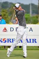 Cheng JIN (CHN) watches his tee shot on 3 during Rd 3 of the Asia-Pacific Amateur Championship, Sentosa Golf Club, Singapore. 10/6/2018.<br /> Picture: Golffile | Ken Murray<br /> <br /> <br /> All photo usage must carry mandatory copyright credit (© Golffile | Ken Murray)